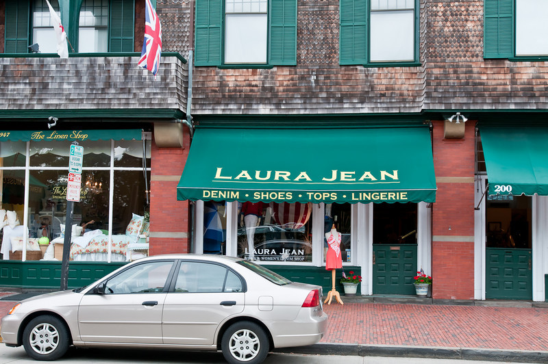 My mom's name is Laurajean and we thought it was awesome that we found a car AND a store named after her!