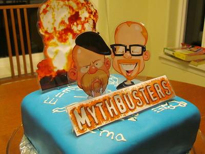 Noah's Mythbusters Cake