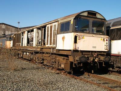 Stored 58022 Crewe Diesel Depot.