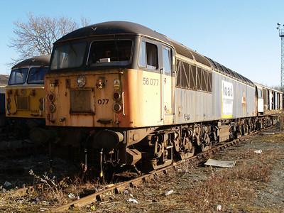 Stored 56077 Crewe Diesel Depot.