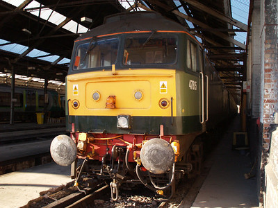 47815 inside Crewe Carriage Shed.