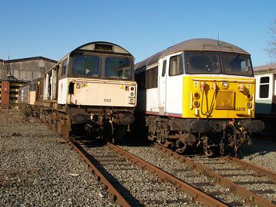 Stored 58022 & 56078 Crewe Diesel Depot.