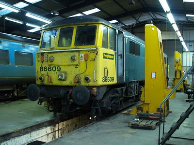 86609 inside LNWR Crewe.