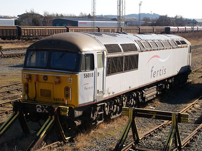 The infamous 56018 on the headshunt in Warrington Yard.