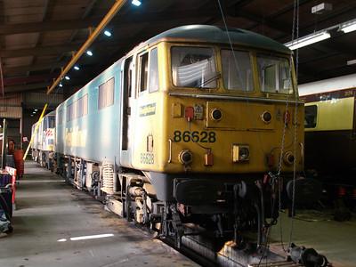 86628 inside LNWR Crewe.