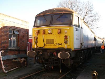 Stored 56031 Crewe Diesel Depot.