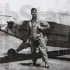 Vintage flier: Elmer Ciancone poses by his Piper Cub back in the day.
