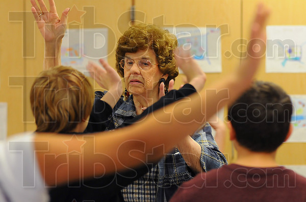 Engaging: Norma Williams elicits responses from her Terre Town 4th graders during a math drill drill.