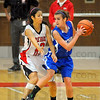 Relentless: Terre Haute South guard Tasia Brewer keeps the pressure on Rox Jerica Carrington.