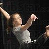 One two three: Indiana State University dance student Carolyne Holcomb performs as part of the dance program at Terre Haute North Thursday afternoon.