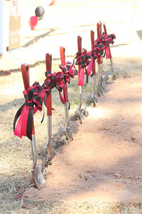 Shovels ready for the groundbreaking November 11th, 2010 of the new Tucker Student Center by Lake Hollifield on the Gardner-Webb University campus.