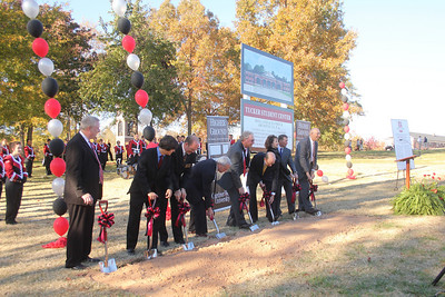 The groundbreaking for the new Tucker Student Center took place November 11th, 2010.