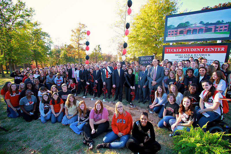 Higher Ground Campaign Kick-off; November 11, 2010. Tucker Student Center Groundbreaking