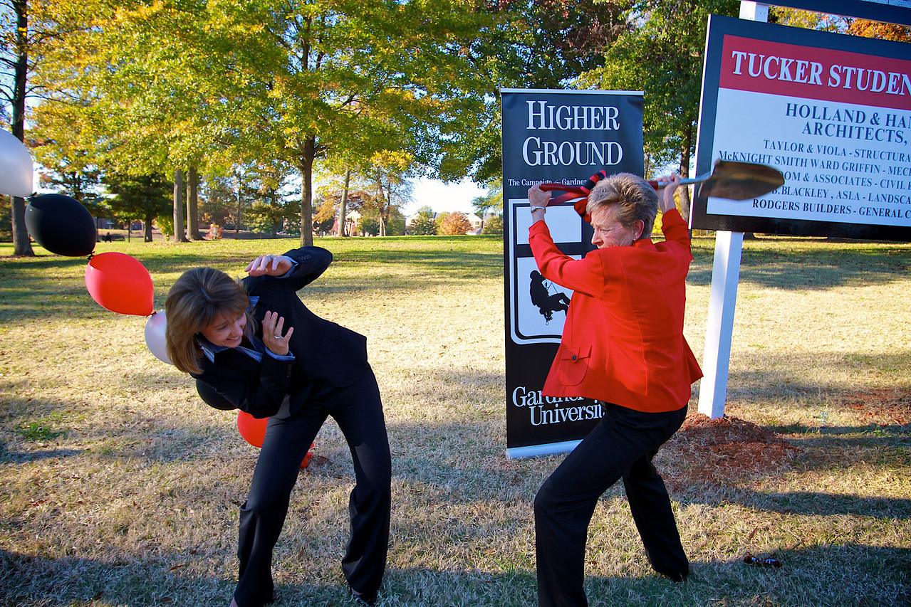 Higher Ground Campaign Kick-off; November 11, 2010. Tucker Student Center Groundbreaking