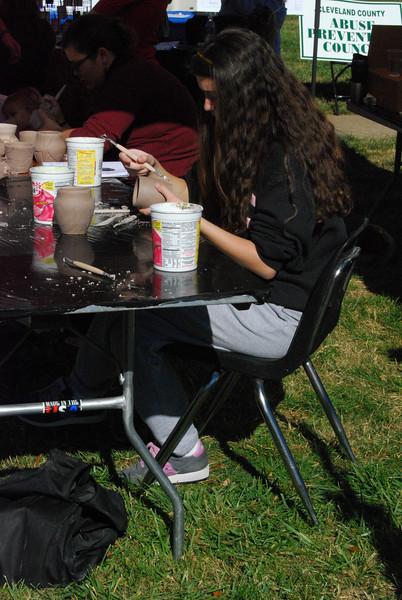The Art Club had booths set up at HopeFest so students and locals could come make their own pottery and paint on some canvases.