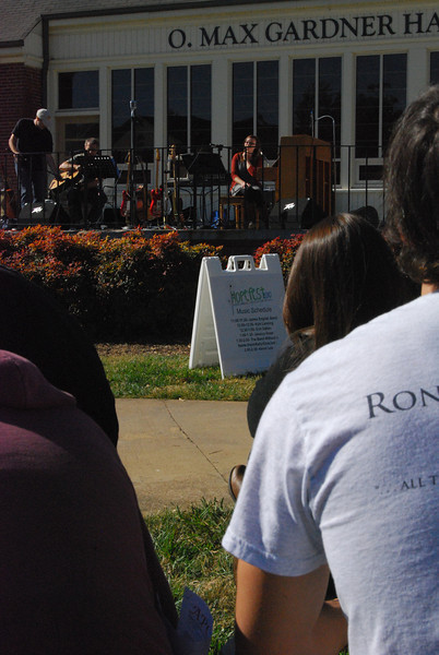 Gardner-Webb alumni, Erin Dalton, made her way back to campus and showed her support by performing her songs.