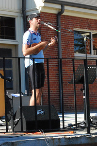 Aaron Lee, a cyclist from New Hampshire on his ukelele tour, stopped by the quad to share some of his recent music with everyone. 3