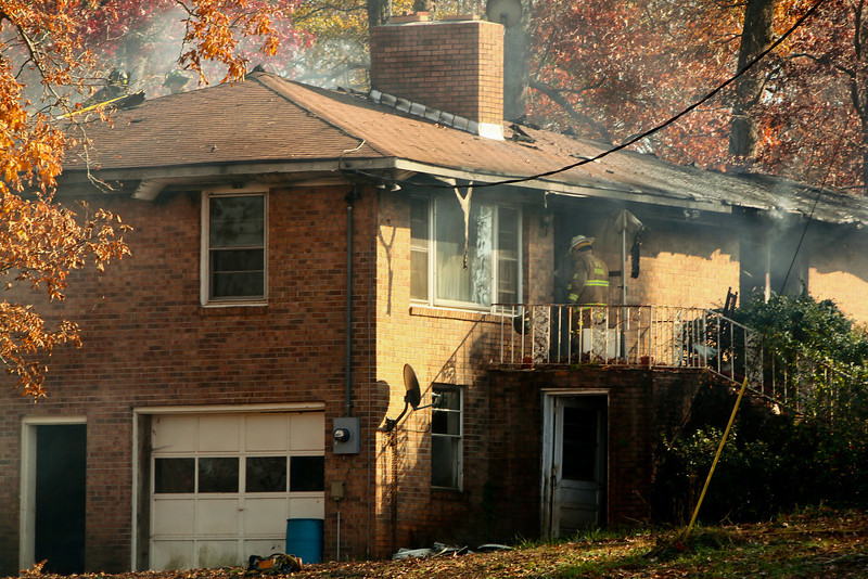 A house in Grassy Pond caught fire Sunday, November 21st around noon.