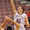 Touch: Rose-Hulman's #41, Jon Gerken takes a soft leaner in the lane during first half action Sunday night.