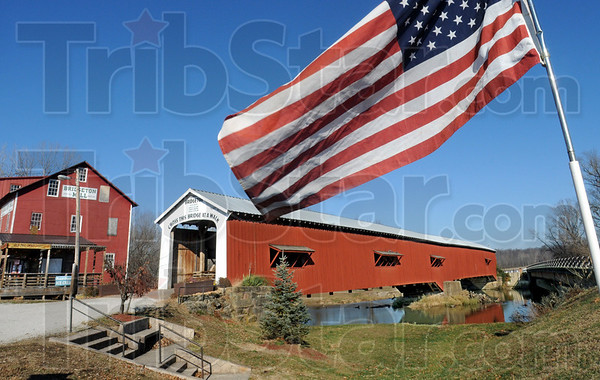 Historic: The Bridgeton Mill and covered bridge welcome sight-seers and shoppers to the historic Indiana town.