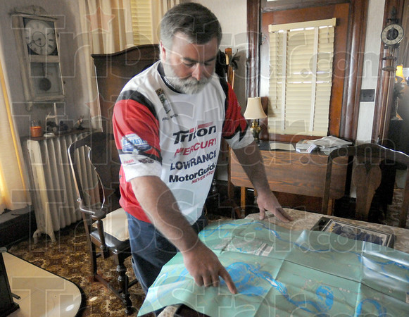 Tournament: Dave Watson shows his route of travel for a recent fishing tournament that put him into the Bassmaster's Tournament.