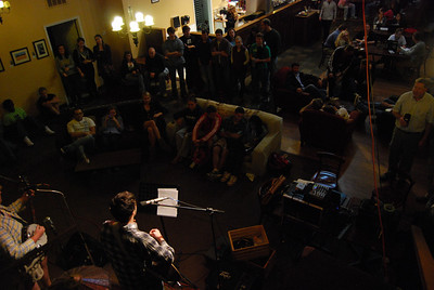 Every Wednesday, students gather at Broad River Coffee Shop for open mic night.