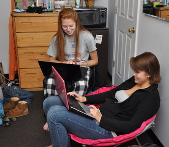 Resident students always know that homework help is always nearby.