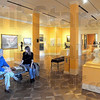 Top ten: Rick Shagley and Tribune-Star reporter Sue Loughlin sit in the Swope Art Gallery Friday afternoon talking about the status of the Museum.