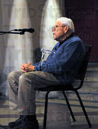 Walter's story: Walter Sommers tells his story during Friday's Kristallnacht Commemoration ceremony at the Indiana Theater.