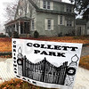 Walk: A sign announces the location of one of many Collett Park area homes that are open for the annual Collett Park Christmas Walk.