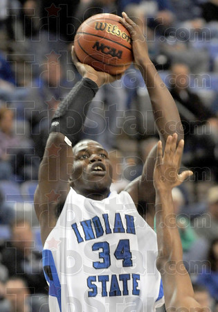 Walker: Myles Walker takes a short jumpshot during game action Saturday at Hulman Center.