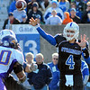 Passing attack: Sycamore quarterback Ronnie Fouch throws to a reciever in second half action Saturday afternoon at Memkorial Stadium.
