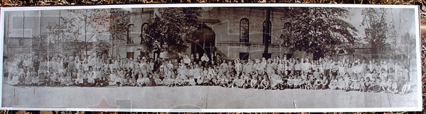 Back when: This photo from 1922 shows the staff and pupils of Benjamin harrison School. The school stood between Third Avenue and Lafayette Avenue on North Seventh Street.