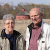 Preserving History: Helen and Martin Whited of Cayuga stand near their round barn near Lodi. The barn has been in Helens family since 1950.