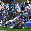 No pushovers:  The ISU defense gang tackles Panther quarterback Tirrell Rennie. Sycamores include Jacolby Washington(34),Alex Sewall(3),Evan Norris)65), Luke Ecimovic(bottom) and Larry King(44).