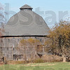 Big barn: The round barn owned by Roger and Pam Hazelwood north of Dana has two stories below the roof.