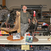 Slam: Kenny Bayless with his World Slam of Turkeys. The six different species of birds are native to North America. The Slam is on display at Gander Mountain.