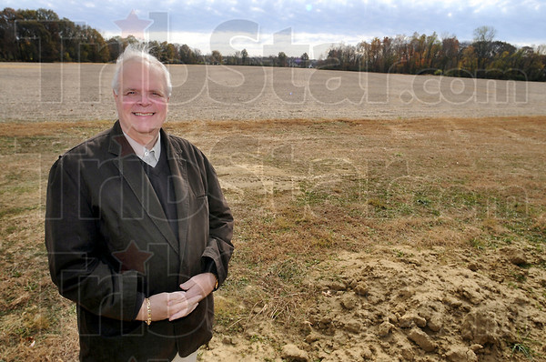 Field of dreams: Bert Williams Jr. stand near ground that he hopes will become a new eastside neighborhood. Located to the south of Terre Vista, it will be named Terre Vista Glen.