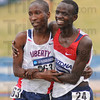 1-2: Samuel Chelanga and Stephen Sambu finished 1-2 in the Men's national championship cross country race Monday at the LaVern Gibson course.