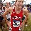 Local talent: Zachary Mayhew catches his breath after finishing the national championship cross country race Monday.