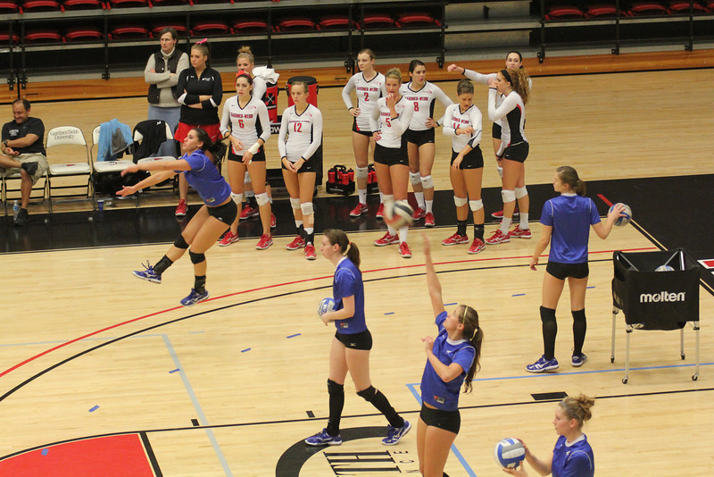The GWU Volleyball team took on the UNC-Asheville Bulldogs on November 9th, 2010.