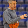 Instructions: ISU head men's basketball coach Greg Lansing gives instructions to his players Tuesday afternoon as they prepare for their season opener against Texas-Pan American in the Loyola Classic.