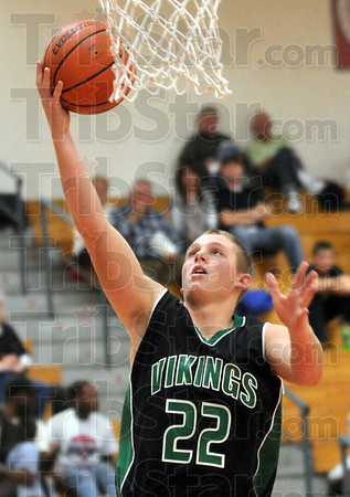 Jamboree: West Vigo's #22, Scott West drives the ball to the basket during Jamboree action.