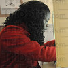 FOR PERSPECTIVES: Indiana State University senior Kendra Crew looks over her ballot while voting at Deming Center. The public Relations major from South Bend voted Tuesday afternoon.