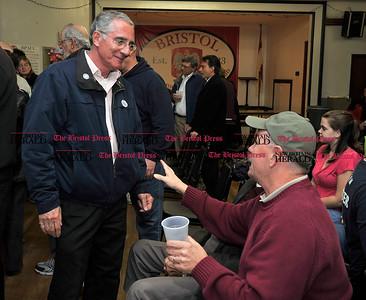 11/2/2010 Mike Orazzi | Staff Frank Nicastro at the Bristol Polish Club on Tuesday night.
