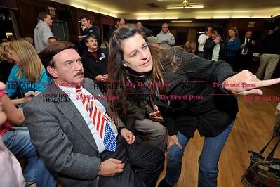 11/2/2010 Mike Orazzi | Staff Sen. Tom Colapietro at the Bristol Polish Club on Tuesday night.