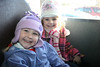 Ashleigh and her friend from school on their first bus ride (field trip to Milburn's)
