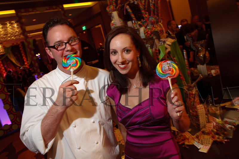 "(Denver, Colorado, Nov. 6, 2010)<br /> Christopher Jordan (FSHD pastry chef) and Dana Berry (FSHD director of public relations).  Four Seasons Hotel Denver hosts its grand opening party, themed ""Four Seasons Embraces Colorado,"" benefiting The Denver Center for Performing Arts, The Denver Zoo, The Kempe Foundation, and The University of Colorado Hospital Foundation, at the Four Seasons Hotel Denver in Denver, Colorado, on Saturday, Nov. 6, 2010.<br /> STEVE PETERSON"