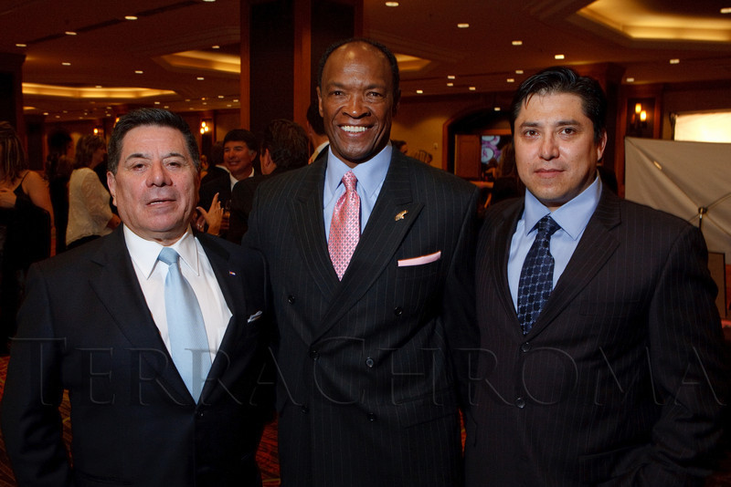 """(Denver, Colorado, Nov. 6, 2010)<br /> Zee Ferrufino, Billy Thompson, and Mike Ferrufino.  """"A Pink Tie Affair,"""" benefiting the Denver Metropolitan Affiliate of Susan G. Komen for the Cure, at the Sheraton Denver Downtown Hotel in Denver, Colorado, on Saturday, Nov. 6, 2010.<br /> STEVE PETERSON"""