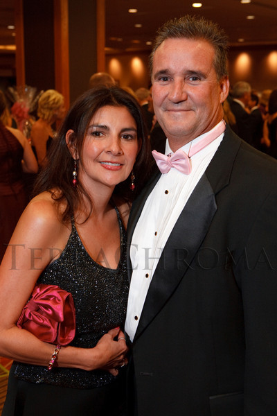 "(Denver, Colorado, Nov. 6, 2010)<br /> Michelle and Larry Trujillo.  ""A Pink Tie Affair,"" benefiting the Denver Metropolitan Affiliate of Susan G. Komen for the Cure, at the Sheraton Denver Downtown Hotel in Denver, Colorado, on Saturday, Nov. 6, 2010.<br /> STEVE PETERSON"